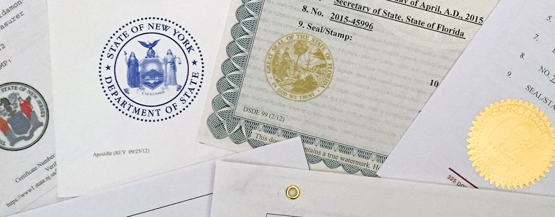 how to apostille a document in new york